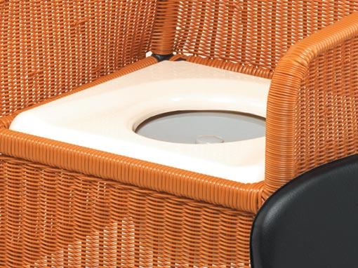 Wicker Toilet Commode