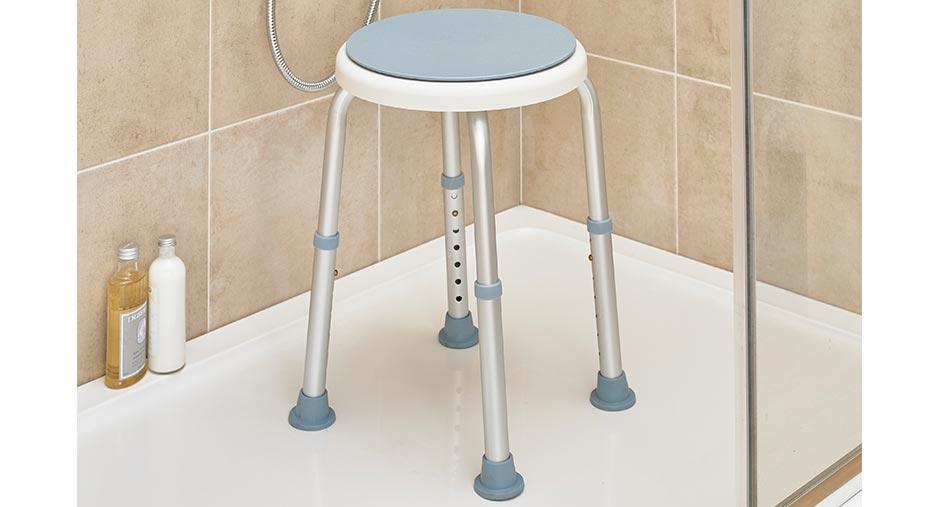 360 Rotating Shower Stool
